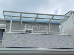 施工例画像:2階ベランダ屋根 LIXIL スピーネF 物干し(標準吊下げ)