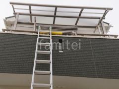 施工例画像:2階ベランダ屋根 LIXIL スピーネR