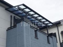 施工例画像:2階ベランダ屋根YKK ソラリアF 積雪50cm対応