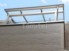 施工例画像:雨除け屋根 YKKソラリアF 1階 2階 アルミ形材 三協 レジリア TK3型