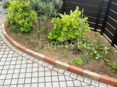 施工例画像:レンガ花壇 横並べ