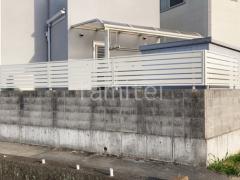施工例画像:雨除け屋根 YKKソラリア 目隠しフェンス シンプレオ