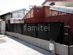 施工例画像:目隠しフェンス塀 LIXIL フェンスAB YL3型