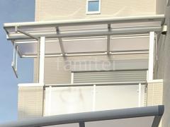 施工例画像:カーポート1台 YKK レイナポート 2階ベランダ屋根 ソラリアF