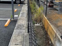 施工例画像:境界フェンス塀 積水樹脂 G10フェンス