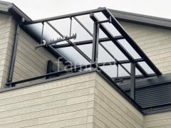 施工例画像:カーポート LIXILネスカF ベランダ屋根 スピーネ