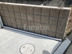 施工例画像:カーポート LIXILネスカ 土留め化粧ブロック
