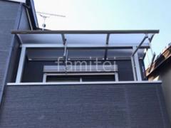 施工例画像:2階ベランダ屋根 目隠しフェンス塀 CBブロック積み