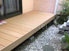 施工例画像:人工木材ウッドデッキ LIXIL樹ら楽ステージ