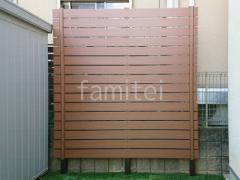 施工例画像:カーポート LIXIL ネスカF目隠しフェンス塀 F&F マイティウッド