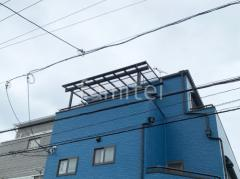 施工例画像:3階ベランダ屋根 三協アルミレボリューZ F 積雪50cm対応