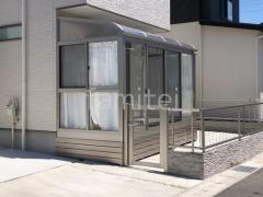 施工例画像:目隠しフェンス サンルーム 境界フェンス門扉