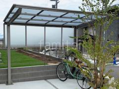 施工例画像:自転車バイク屋根 LIXILネスカF イナバ物置 シンプリー MJX-157CP