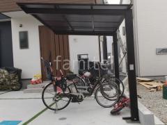 施工例画像:ベランダ屋根 YKKソラリアF 2階 自転車バイク屋根 LIXILネスカF