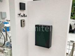 施工例画像:塗り壁門柱 アイカ工業 ジョリパット塗装