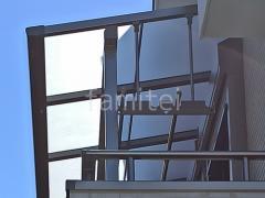 施工例画像:2階ベランダ屋根 LIXILスピーネF 物干し