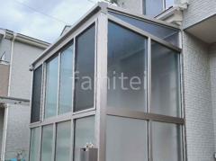 施工例画像:テラス囲い 2階ベランダ屋根 YKKソラリアF カーポート LIXILネスカF