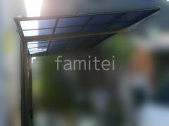 施工例画像:カーポート1台 YKKエフルージュグラン FIRST 2階ベランダ屋根 ソラリアF