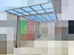 施工例画像:カーポート LIXILネスカF縦1.5台 ひさし YKKコンバイザーモダンスタイル