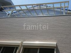施工例画像:2階ベランダ屋根 LIXIL テラスVS F 積雪30cm対応