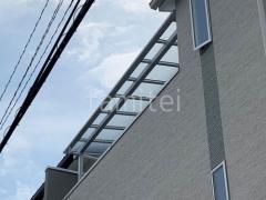 施工例画像:3階ベランダ屋根 LIXIL テラスVS F 積雪30cm対応