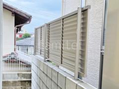 施工例画像:目隠しフェンス塀 LIXILAB YL3型