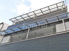 施工例画像:ベランダ屋根 LIXILスピーネ2階・3階