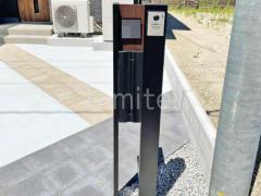 施工例画像:機能門柱 YKKAP ルシアスポストユニットPE01型