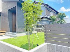 施工例画像:新築シンプル セミクローズ外構