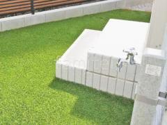 施工例画像:化粧ブロック階段 ユニソン レクト