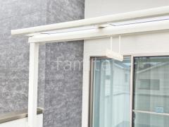施工例画像:ベランダ屋根 LIXILスピーネ2階