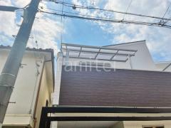施工例画像:ベランダ屋根 独立式テラス屋根