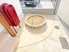 施工例画像:レンガ花壇 ユニソン ソイルレンガ カラーコンクリート