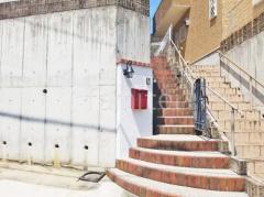 施工例画像:塗り壁門柱 四国化成 美ブロシルキーHG