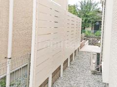 施工例画像:境界フェンス塀 目隠しフェンス塀