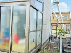 施工例画像:ガーデンルーム YKK目隠しソラリア