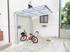 施工例画像:自転車バイク屋根 LIXILネスカF