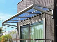 施工例画像:柱なしテラス屋根 YKK ソラリアF