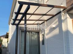 施工例画像:1階テラス屋根 三協アルミ フル木製調 ナチュレNテラス