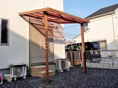 施工例画像:本体色 チェリーウッド 屋根色 クリアブラウン