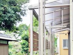 施工例画像:雨除け屋根 人工木ウッドデッキ