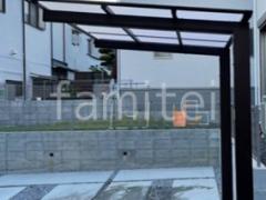 施工例画像:サイクルポート タカショー フル木製調 アートポート