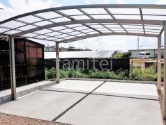 施工例画像:カーポート LIXILネスカR横2台