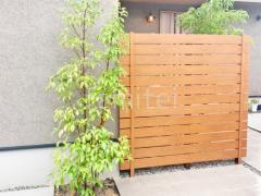 施工例画像:シンボルツリー 目隠しフェンス塀 F&F マイティウッドプレミアム